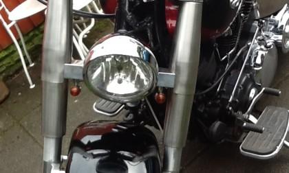 360mm center billet yolks on bike